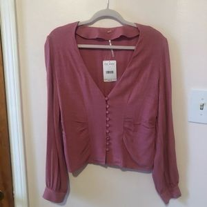 Free people button front top